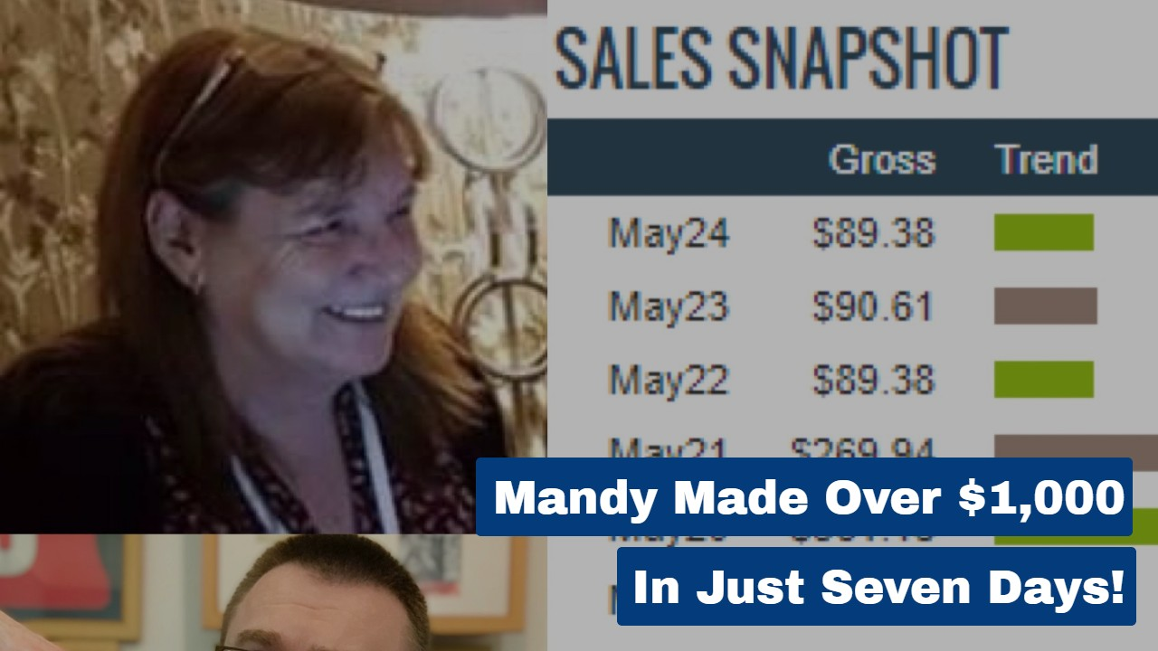 Mandy Made Over $1,000 In Just Seven Days!