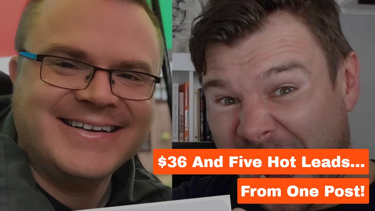 $36 And Five Hot Leads… From One Post!
